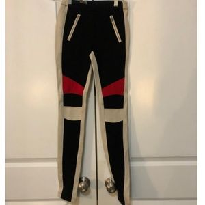 BCBGMAXAZRIA Black Beige and Red Legging Pant